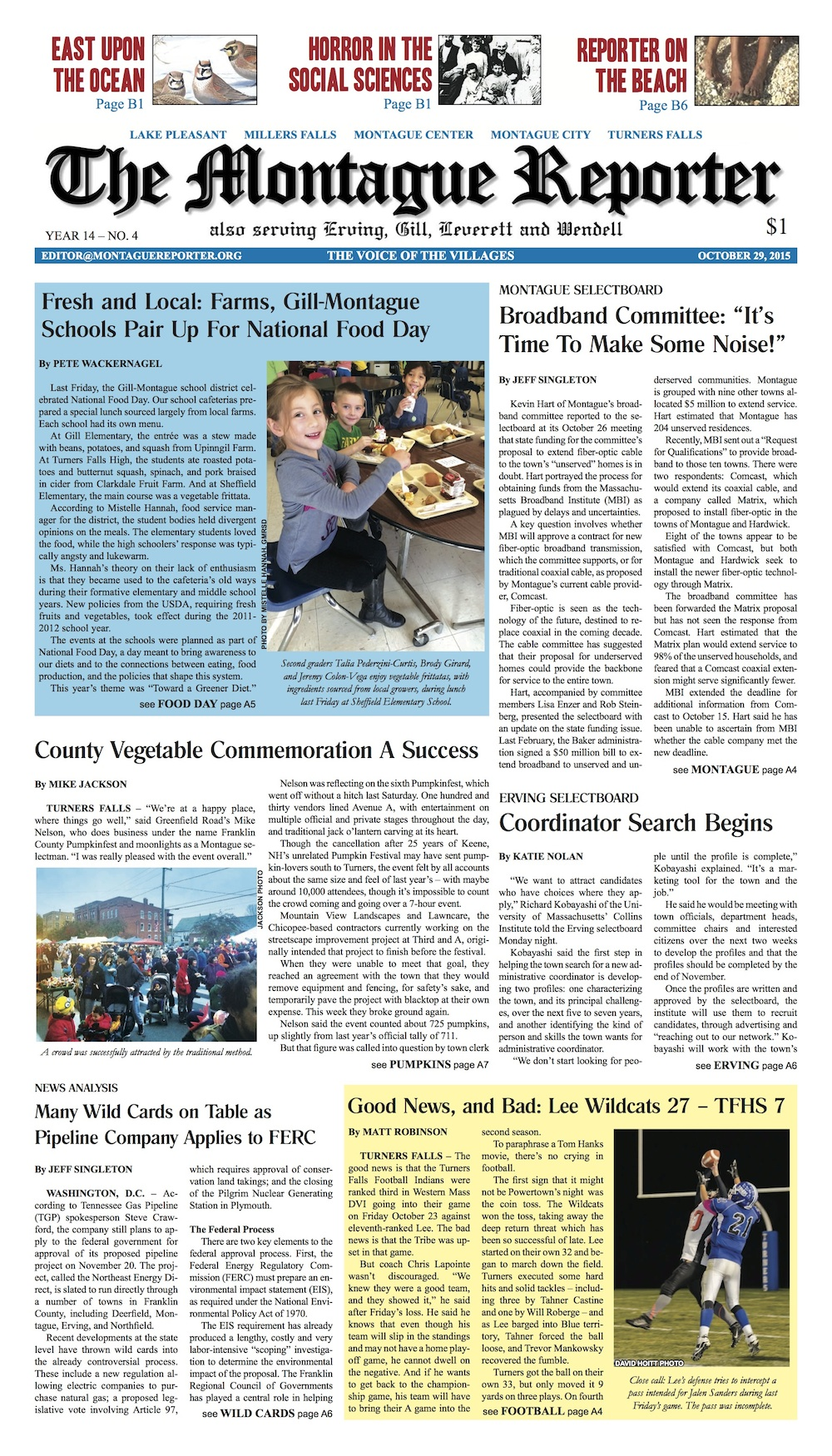 Page A1, October 29, 2015