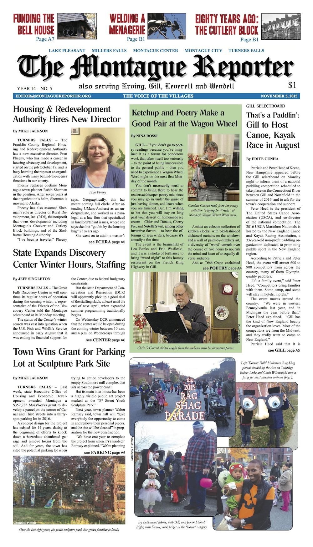 Page A1, November 5, 2015