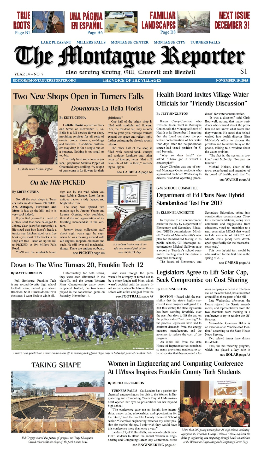 Page A1, 11/19/2015