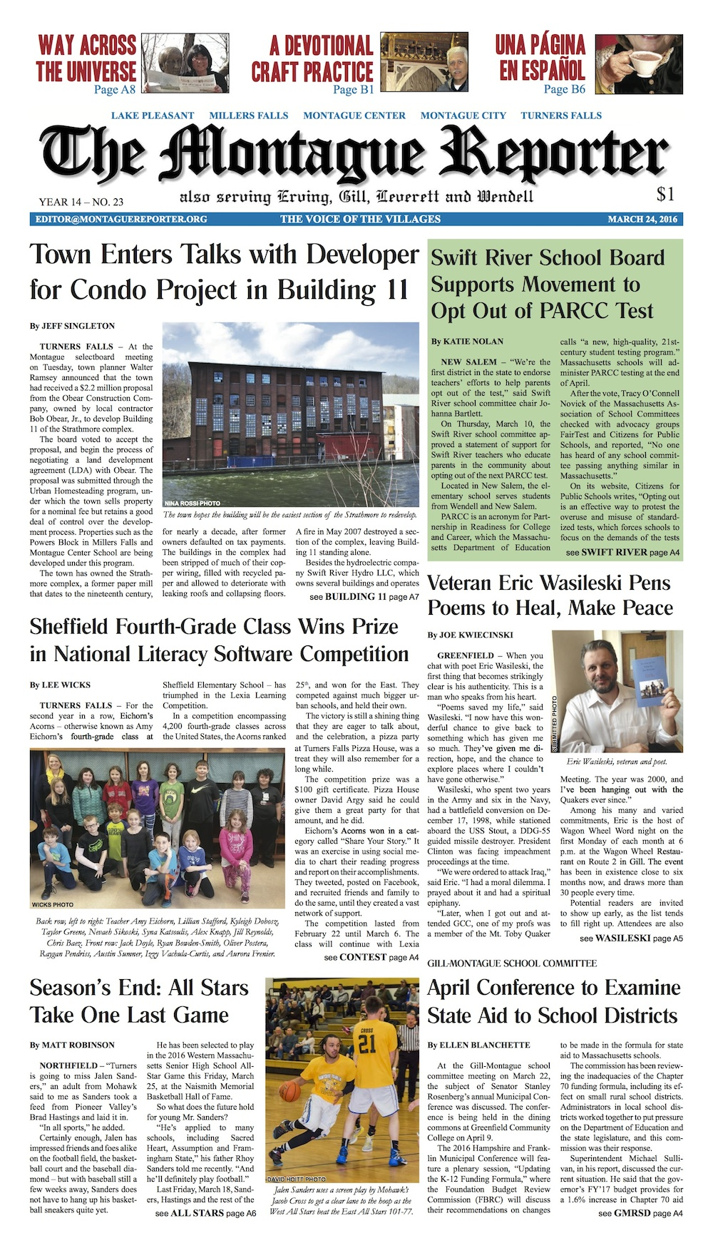Page A1, 3/24/16