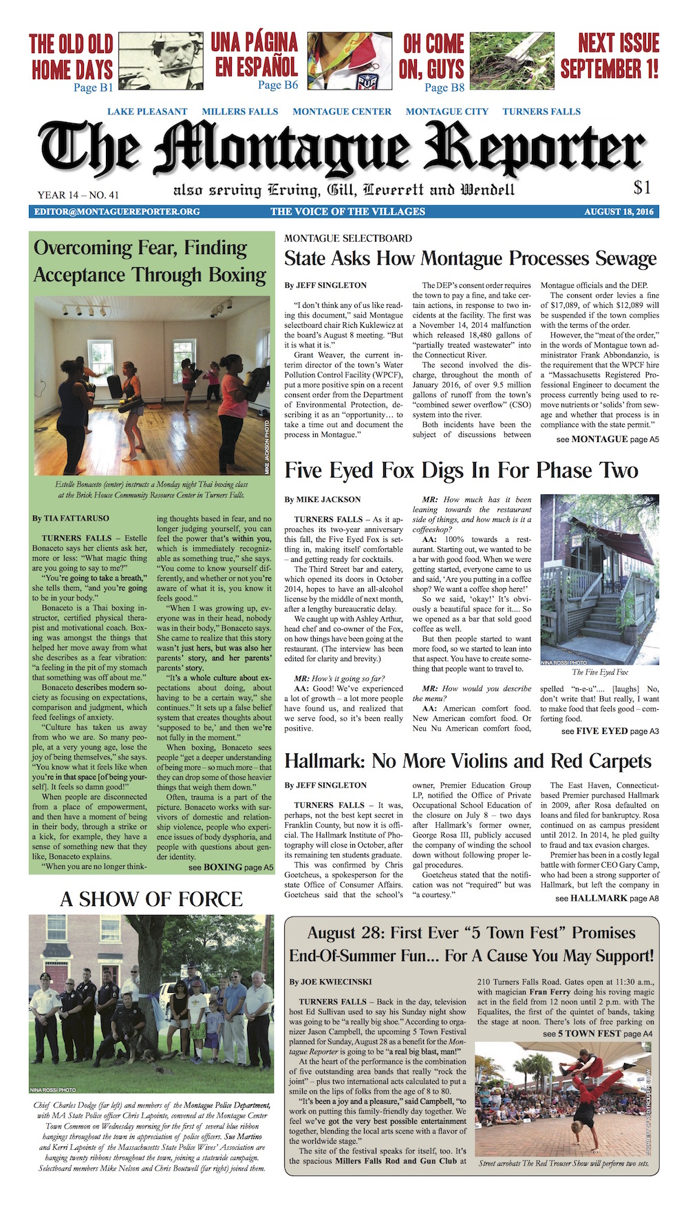 Page A1, 8/18/2016